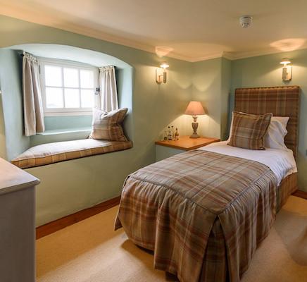 01-08-17, Fenton Tower, North Berwick, Scotland, UK. The bedrooms. Photo © Simon Grosset / Q Photography