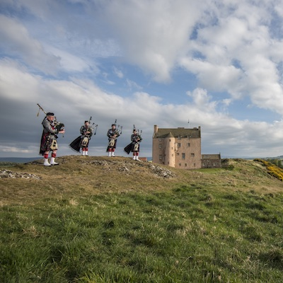 Film and TV location in East Lothian at Fenton Tower