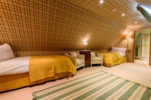 Twin room set up in Garret Suite